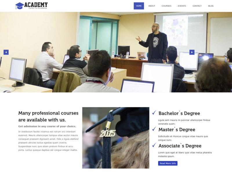 Academy WordPress Template