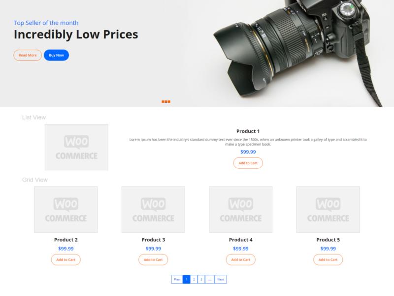 Electron Store WooCommerce Webshop Theme