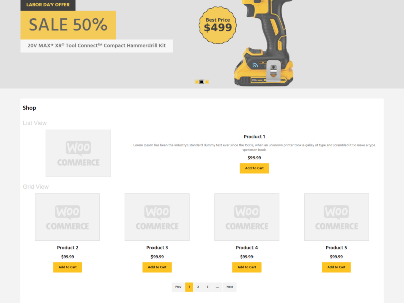 Master Tools Store WooCommerce Webshop Theme
