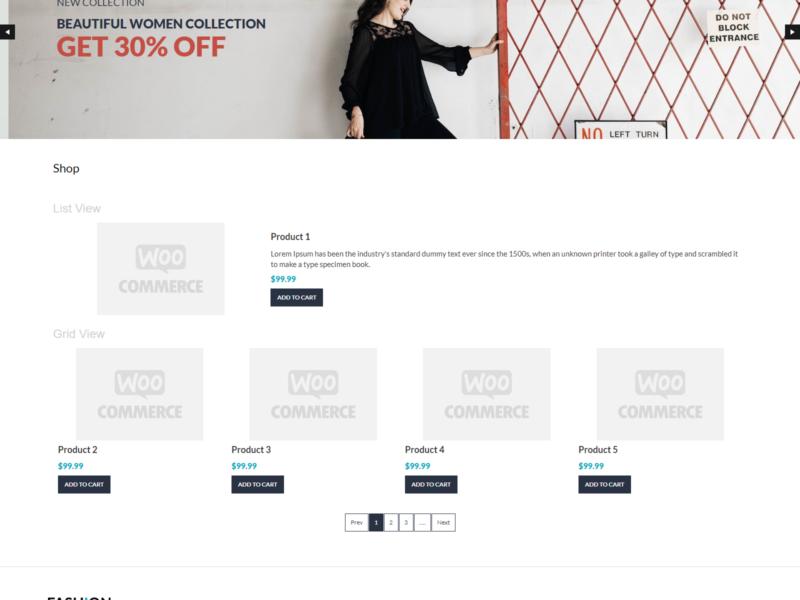 Fashion Store WooCommerce Webshop Theme