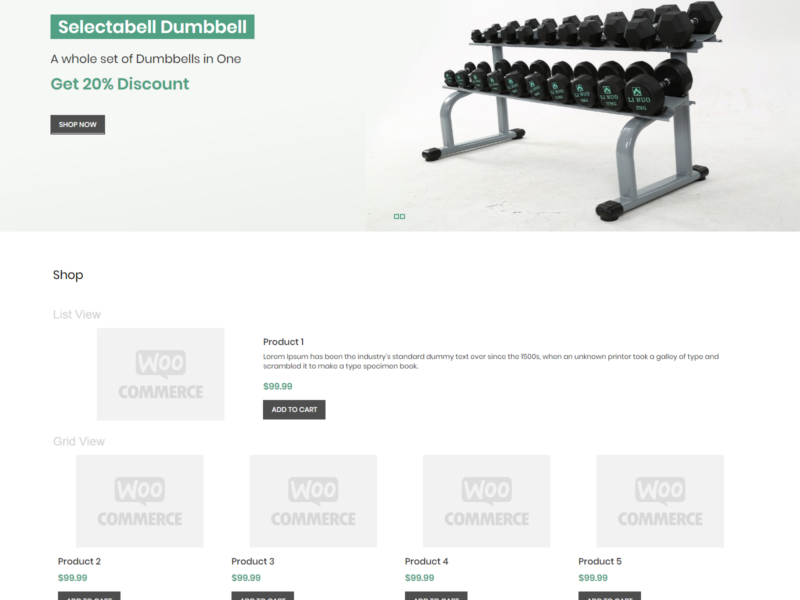 Gym Store WooCommerce Webshop Theme