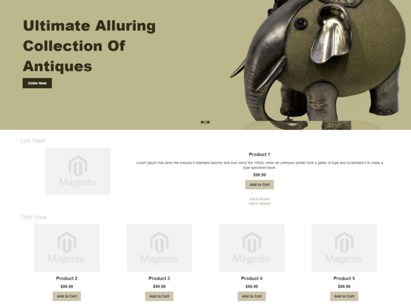 Antigues Magento Webshop Theme