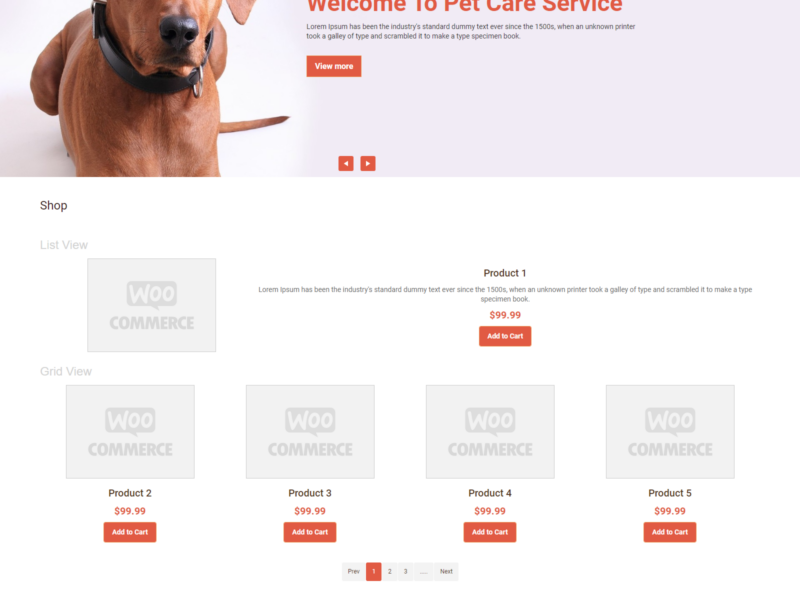 Dog Food WooCommerce Webshop Theme