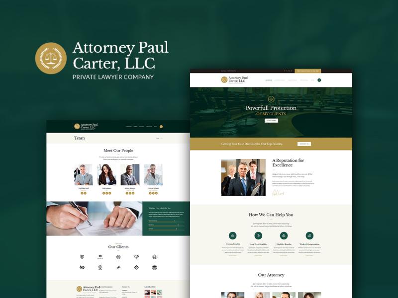 Rechtsanwaltskanzlei Website
