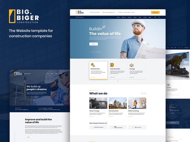 Bauunternehmen Website