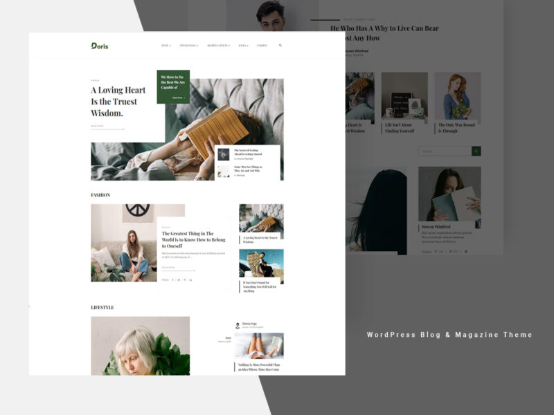 Magazin & Blog Website