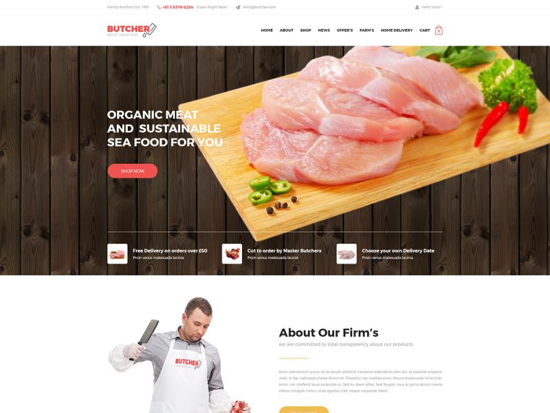 Fleischerei Website