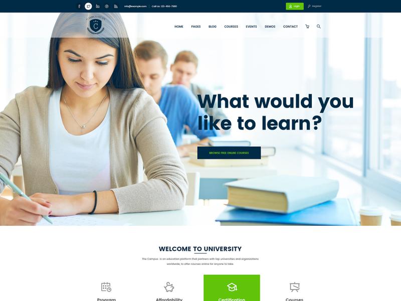 Online Kurs Website