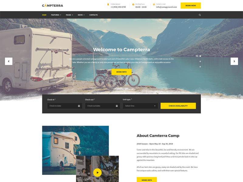 Camping Website
