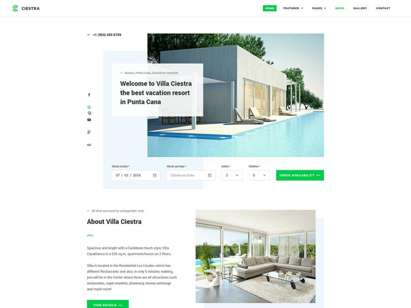 Ferienhaus & Ferienwohnung Website
