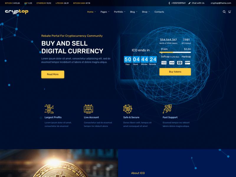 Kryptowährung Website