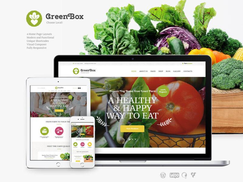 Lebensmittelhändler Website