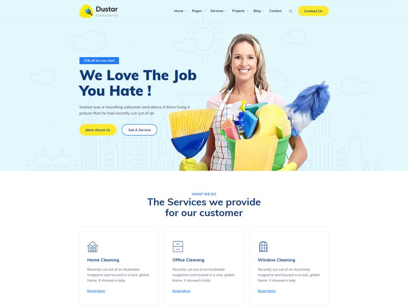 Reinigungsservice Website