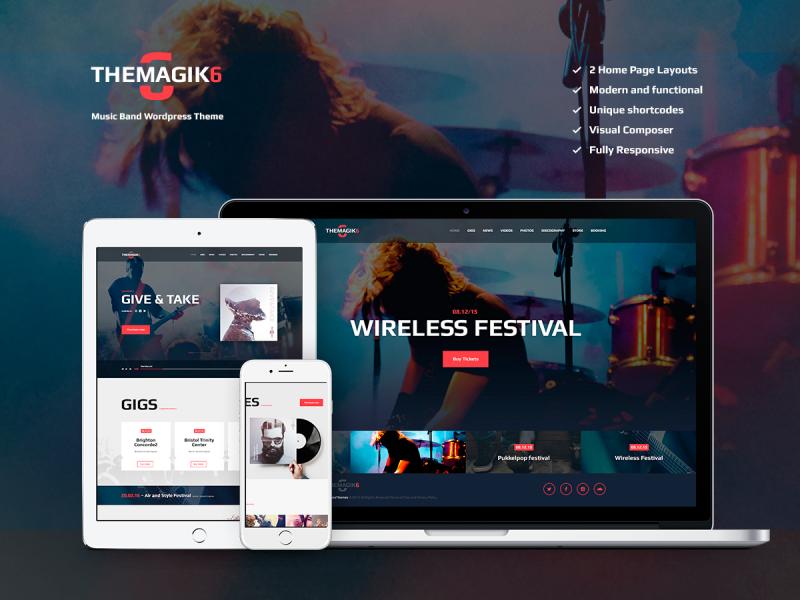 Musiker & Band Website