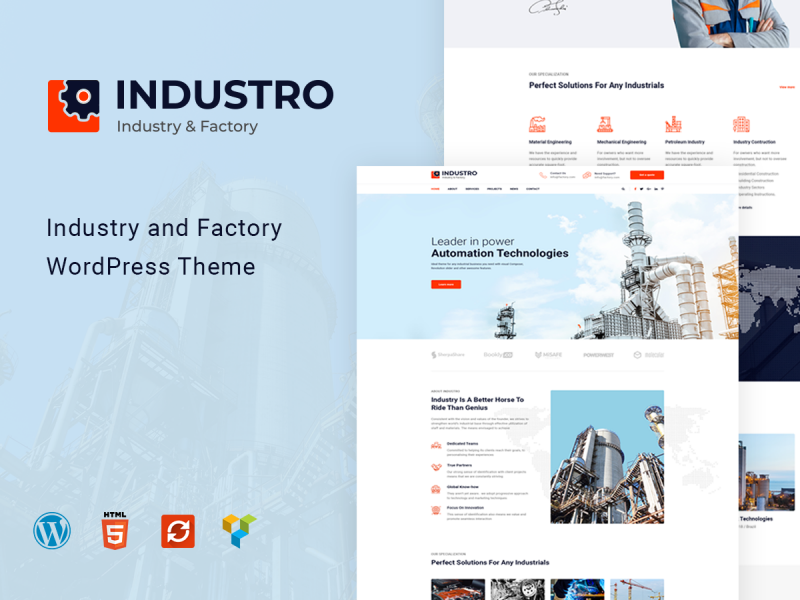 Industrie & Fabrik Website