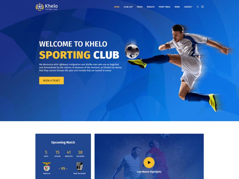 Fußballverein Website