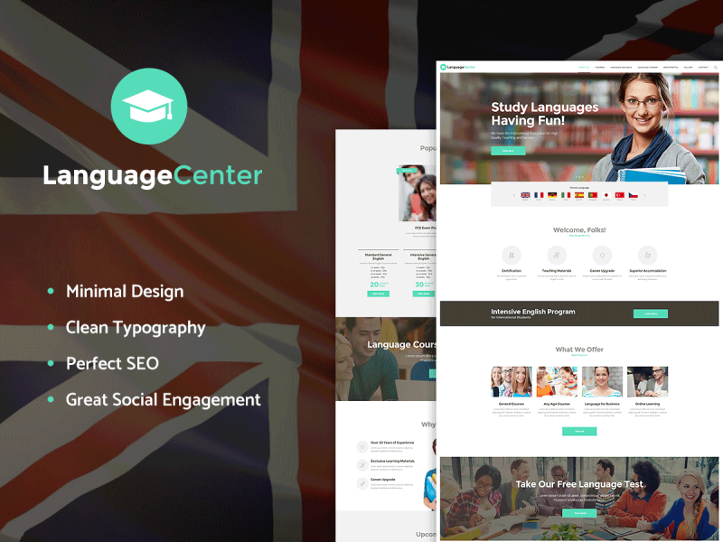 Sprachschule Website