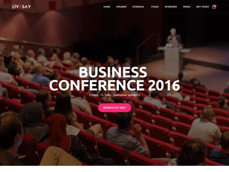 Konferenz & Veranstaltungen Website